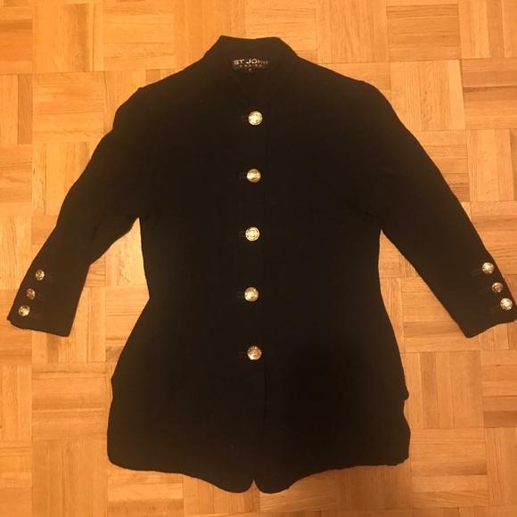 St. John basics 3/4 sleeve cardigan size 4